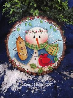 #720  Winter Holly & Friends (PATTERN)
